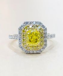 Bague Fancy Vivid Yellow