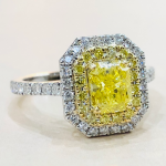 Bague Fancy Vivid Yellow